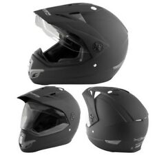 Motorradhelm Cross Enduro Versuch Quad Off Straße Visier Anti Nebel Matte Black