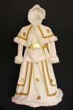 Deluxe White Gold Rich Victorian Dickensian Lady fancy dress costume 4 5 6 7