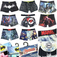 DC COMICS BATMAN SUPERMAN AVENGERS MARVEL MEN'S LETTER boxer shorts underwear