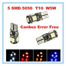2x 5 LED SMD 5050 Standlicht xenon weiss,Blau,Rot CanBus T10 W5W Glassockel