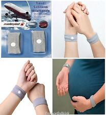SICKNESS MOTION TRAVEL  ANTI NAUSEA MORNING  SICK WRIST BAND CAR SEA PLANE