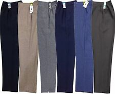 NEW WOMENS LADIES HALF ELASTICATED WAIST TROUSERS POCKETS PANTS PLUS SIZE 8-24