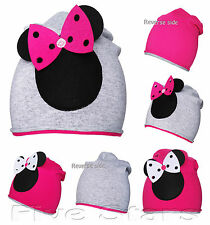 nourrisson enfant fille printemps chapeau revers en coton minnie mouse casquette
