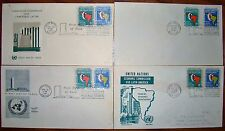 4 UN FDC United Nations First Day Covers Economic Commission for Latin America
