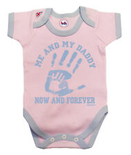 BritTot Baby Grow | Me & My DADDY Now & Forever | Girls Bodysuit Baby Shower