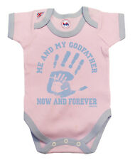 BritTot Baby Grow | Me & My Godfather Now & Forever | Girls Bodysuit Vest Gift