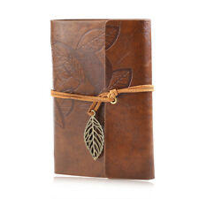 Retro Leather Vintage String Leaf Blank Diary Notebook Journal Sketchbook brown