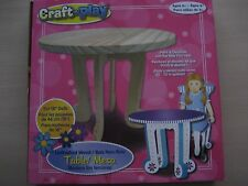 CRAFT n PLAY 3 PIECE UNFINISHED WOOD TABLE FOR 18