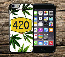 Cannabis Weed Leaf Marijuana 420 iPhone 4/4s 5/5s SE 5c 6/6s 6+ Phone Cover Case