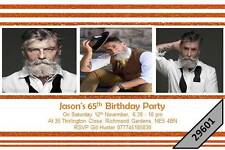 10 x Personalised 16th 18th 21st 30th 40th 50th 60th 65th Birthday Invites 29601