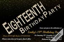 10 x Personalised 16th 18th 21st 30th 40th 50th 60th 70th Birthday Invites 29801