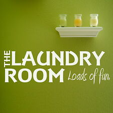 Laundry Room Quote Wall Sticker / Decal Transfer / Vinyl Art Graphic Stencil X91