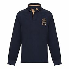 OFFICIAL British & Irish Lions 2017 Pro NZ Navy Long Sleeve Rugby Shirt