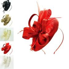 Ladies Women Wedding Races Occasion Sinamay Flower Headband Clip Hat Fascinator