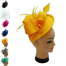 Ladies Day Wedding Races Occasion Royal Ascot Flower Headband Clip Fascinator UK