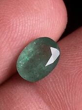 1.715ct 100%Natural Colombian Emerald Light Green Blueish Museum grade