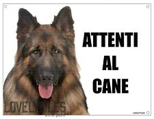 PASTORE TEDESCO attenti al cane mod 5 TARGA cartello CANE IN METALLO