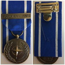 NATO FORMER YUGOSLAVIA MEDAL  FULL SIZE COPY, COURT MOUNTED OR LOOSE WITH RIBBON