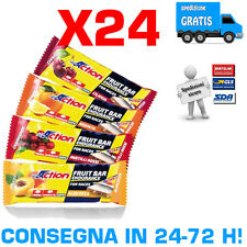 PROACTION FRUIT BAR Conf 24 Barrette 40g Snack Energetico a Base di Vera Frutta