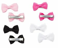 Baby Girls Kid Small  Mini Satin Chiffon Ribbon Bow Hair Clips Bow Beak Clip-120