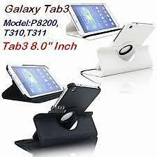 "New Rotating 360° Rotate Smart Case Cover for Samsung Galaxy Tab 3 8"" T311 T310"