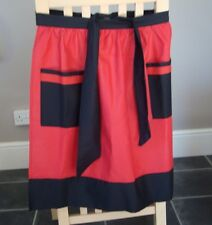 RED AND BLACK COTTON DESIGN HALF APRON / PINNY