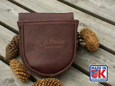 LEATHER SHOOTING CARTRIDGE BAG POUCH CLAY PIGEON SKEET SHOOTING SHOOTERS BBL