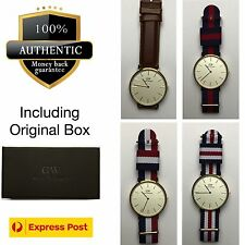 100% Authentic New Daniel Wellington 40mm Rose Gold Watches - 9 Types