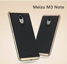 Ipaky Gold Bumper+Rubber Black Back Cover Case For Meizu M3 Note
