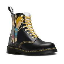 Dr Martens Pascal Beavis And Butt-Head Leather 8-Eyelet Boots Black And White