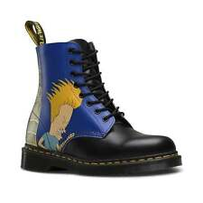 Dr Martens Pascal Beavis And Butt-Head Leather 8-Eyelet Boots Black And Blue