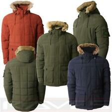 Men's Quilted Threadbare Winter Padded Fur Hooded Sherpa Parka Coat DMU047