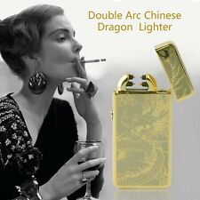 Dragon Electric Dual Arc Flameless USB Rechargeable Windproof Lighter LN