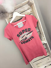 Super Dry Fire Power Comets T-shirt Top Dusty Pink