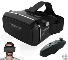 Original Shinecon 3D VR BOX Virtual Reality Glasses Headset /Bluetooth VR Remote