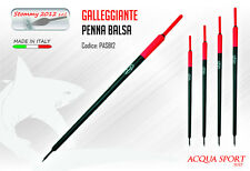 Galleggiante Inglese a Penna AQS STOMMI PASB12 Spiombato in Balsa Made in Italy