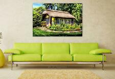Stunning Poster Wall Art Decor Cottage Rural House Nature Country 36x24 Inches