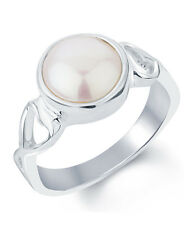 Pearl Moti Silver Certified Gemstone Ring 92.5 Sterling Silver