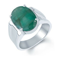 Emerald Panna Silver Certified Gemstone Ring 92.5 sterling Silver