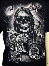 BIG INDIAN SKULL TRIKE RIDER T-SHIRT M L XL GHOSTRIDER GLOW IN THE DARK PARTY
