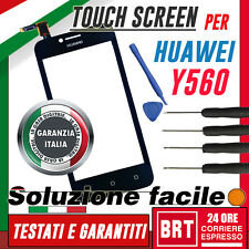 TOUCH SCREEN PER HUAWEI ASCEND Y560-L01 Y 560 VETRO NERO DIGITIZER+KIT S!