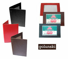 Leather Golunski Bus Pass Holder, Oyster ID Card Cover, Licence Photo ID Window