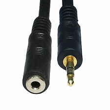 3.5mm Stereo Jack Plug to Socket Aux Headphone Audio Extension Male Female Cable