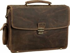 Greenburry Vintage Laptop Tasche Aktentasche Leder Herrentasche Businesstasche