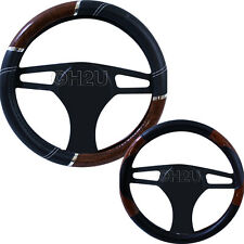 STEERING WHEEL COVER SOFT LEATHER MAPLE EFFECT- PATENT WOOD LOOK HIGH QUALITY