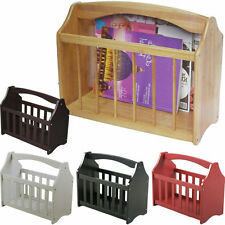 STANDING WOODEN MAGAZINE RACK NEWSPAPER MAIL SHELF STORAGE HOLDER STAND STYLISH