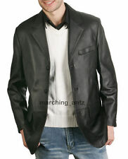 New Soft Genuine Leather Lambskin Motorcycle Biker Jacket Blazer Bomber Coat 405
