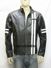 New Soft Genuine Leather Lambskin Motorcycle Biker Jacket Blazer Bomber Coat 553