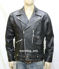 Genuine Leather Lambskin Terminator Motorcycle Biker Jacket Blazer Bomber Coat