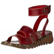 Womens Fly London Tily 722Fly High Ankle Strap Low Wedge Full Leather Sandal